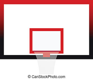 Vector Illustration of the Basketball Court Board