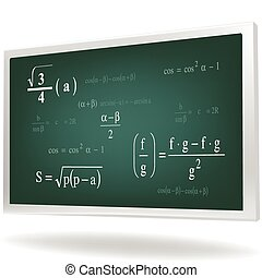 math background - Vector illustration of math background in...
