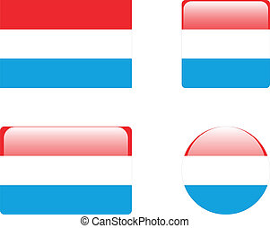 Luxembourg flag & buttons