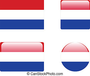 Netherland flag & buttons