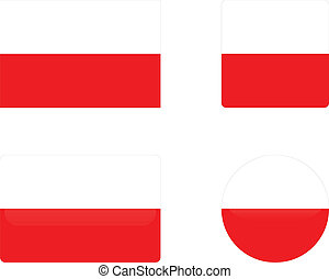 Poland flag & buttons