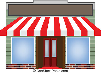 awning - illustration of four different color vector awning...