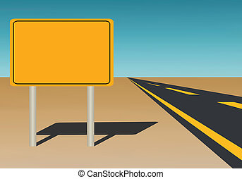 Blank Road Sign - Vector Illustration of a blank road sign...