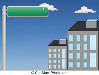 Street Sign - A vector illustration showing a street sign...