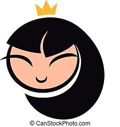 cartoon princess icon