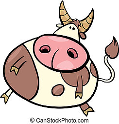 Taurus zodiac sign - cartoon Illustration of taurus zodiac...