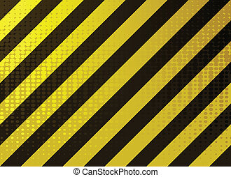 grungy hazard stripes - vector illustration of grungy hazard...