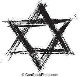 Judaism sumbol - Judaic religion symbol created in grunge...