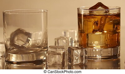Pouring whiskey into the glass