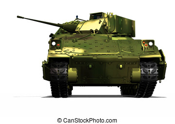 Bradley Fighting Vehicle, Bradley Tank painted in NATO...