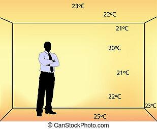 indoor heating - illustration of underfloor indoor heating...