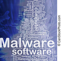 Malware background concept - Background concept wordcloud...