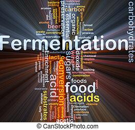 fermentación, proceso, Plano de fondo, concepto,...