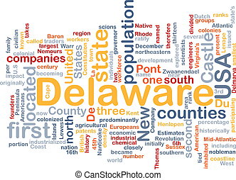 Delaware state background concept - Background concept...