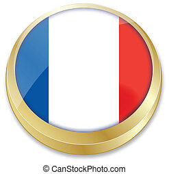flag of France in button shape