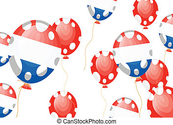 flag of France in balloon shape