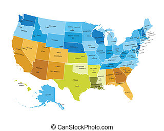 USA map with names of states - USA states map with names of...