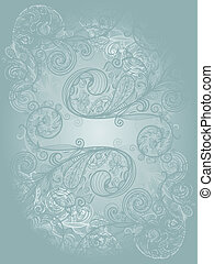 vector template with abstract  floral pattern and place for your text
