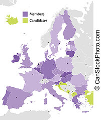 European Union countries - European Union members and...