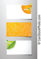 Set of abstract gift cards.