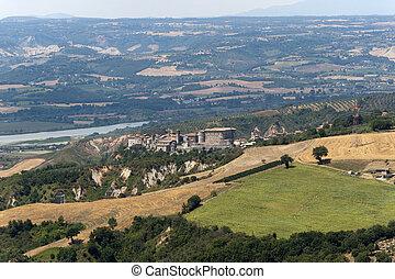 Panorama of Alviano Terni, Umbria, Italy, landscape at...