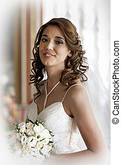 Beautiful bride - The beautiful bride with a wedding bouquet