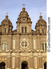 St. Joseph Wangfujing Cathedral, Basilica, Facader Church Beijing China.  Very famous Catholic Church built in 1655 and in Boxer Rebellion