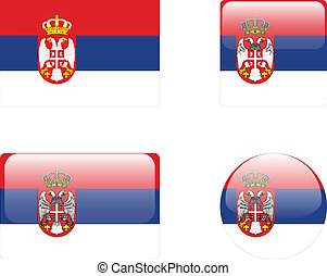 Serbia flag & buttons
