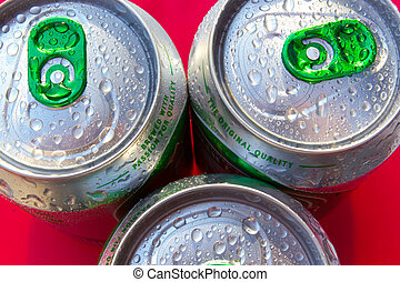 Beverage cans - Very cold drinks in cans and refreshing