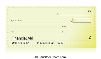 Financial aid check illustration