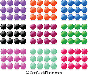 Button collection - vector