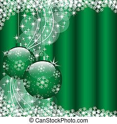 Xmas balls green