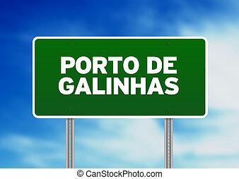 Green Road Sign - Porto de Galinhas - Green Porto de...