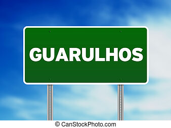 Green Road Sign - Guarulhos