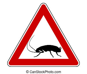 Cockroach warning sign