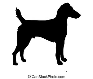 The black silhouette of a Westfalen Terrier