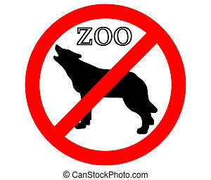 Wolf  in zoo prohibited