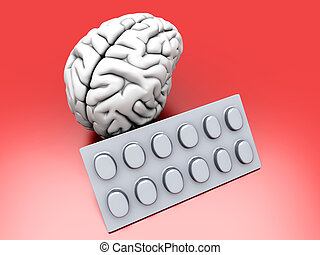 Brain Pills - Some pills for the Brain Symbolic for Drugs,...