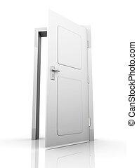 Open Door - The Door is open for you... 3D rendered...