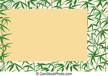 asian background with bamboo branches