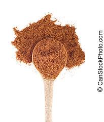 Garam masala - garam masala spice on a wooden spoon,...