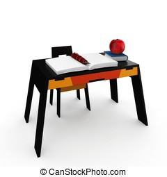 3d student desk back to school