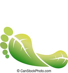 Eco Footprint - A Colourful Vector Illustration of a Green...