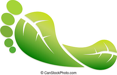 Eco Footprint - A Colourful Vector Eco Green Footprint...