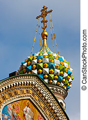 Church of the Savior on Spilled Blood - Detail of the Church...