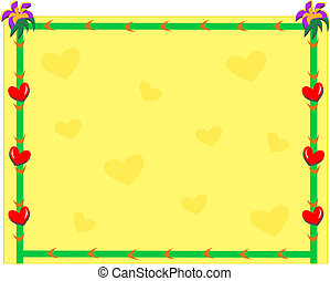 Frame with Hearts Background