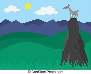 Goat on a Mountain