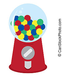 Gumball Machine with assorted gumballs