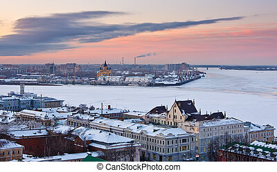 Nizhny Novgorod at winter