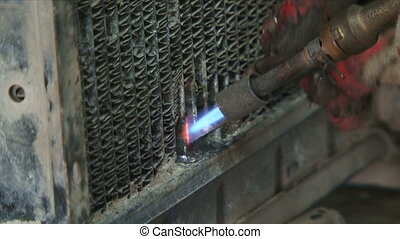 Work with welding - Person for the job using a welding...